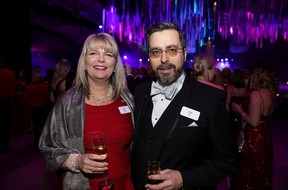 Cathy Heron, left, with John Carle during Edmonton Opera's Valentine's Day Gala at the Edmonton Convention Centre.