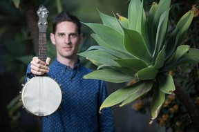 Jayme Stone brings his Folklife band to play for New Moon Folk Club Friday.