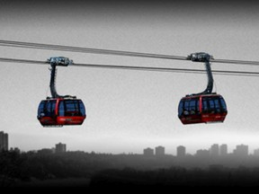 The gondola over the North Saskatchewan River idea by Gary and Amber Poliquin was chosen by the judges in The Edmonton Project.