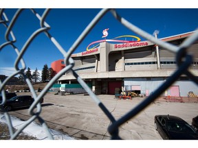 The Calgary Flames players parking area was empty at the Scotiabank Saddledome in Calgary after the NHL suspended the season on Thursday, March 12, 2020. The league took the action to help slow the spread of COVID-19. Gavin Young/Postmedia