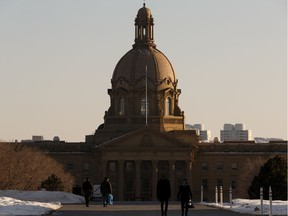 The Alberta legislature grounds on March 20, 2020, have seen far fewer visitors and legislature tours have been cancelled during the COVID-19 pandemic.