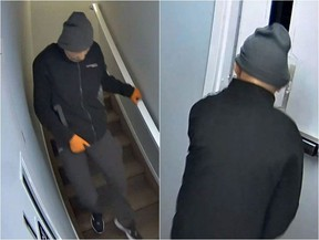 Photos of a man suspected to be involved in a shooting in Fort McMurray on March 15, 2020. Submitted image.