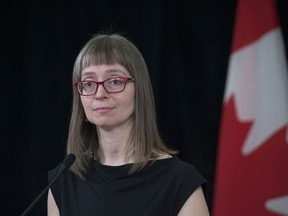 Dr. Deena Hinshaw, Alberta's chief medical officer of health, announced that  five more people have died from COVID-19 and there are 107 new cases of the illness on Friday, April 3, 2020.