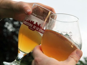 Fully legal gasses of beer in the unfenced Josaphat Park in Brussels, Belgium.