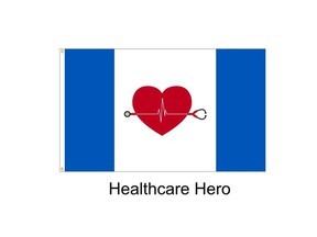 Health Care Hero flags like this were stolen from the Flag Shop on Stony Plain Road and 155 Street on Wed. May 20, 2020. Proceeds of the sale were to go to COVID-19 relief.