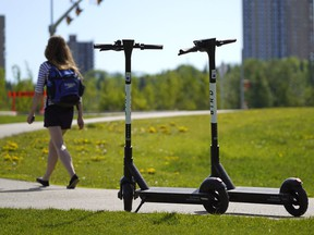 Electric scooter companies Lime and Bird returned to Edmonton on Tuesday, June 2, 2020, after being delayed by about two months due to the COVID-19 pandemic. There are about 200 scooters available for rent in the city.