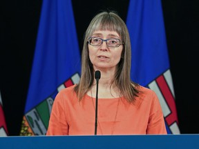 Alberta's chief medical officer of health Dr. Deena Hinshaw gives an update on COVID-19 June 15, 2020.