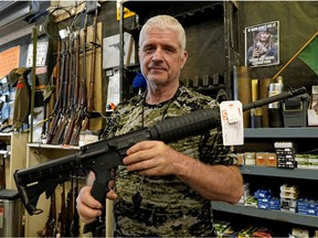 Jim Osadczuk of Sebarms Guns says everything is in short supply because of surging gun sales in the U.S.