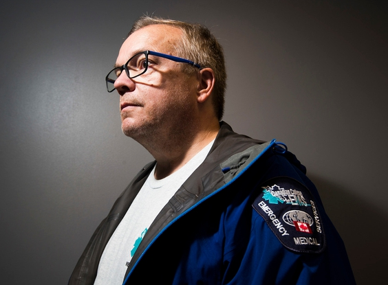 Greg Clarke poses for a portrait on Saturday, July 25, 2020 in Edmonton. Clark is a former EMS for 30 years, now teacher and clinic paramedic. He has published a book about how to respond to an opioid overdose.