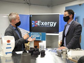 Minister of Jobs, Economy and Innovation Doug Schweitzer discussed, during a news conference from Exergy Solutions in Calgary on Thursday, September 17, 2020, Alberta's plan to drive diversification, investment and growth to the province.