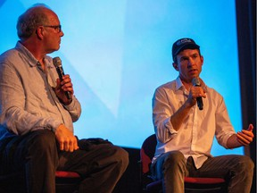 Planet of the Humans director Jeff Gibbs, , left, and producer Ozzie Zehner will be hosting virtual screenings of the documentary in eight Canadian cities in October.