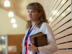 Dr. Lynora Saxinger, associate professor in the University of Alberta department of medicine, division of infectious diseases, on July 17, 2019.