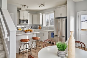 Bright kitchen and dining room