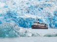 The converted tugboat Swell takes an up-close look at stunning glaciers in Alaska, one of several experiences offered by Maple Leaf Adventures. JEFF REYNOLDS