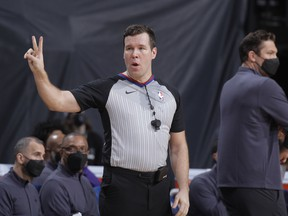 Edmonton's Matthew Kallio, has become the first Canadian NBA referee in the 74-year history of the association this season, as he works toward a full-time contract with the league.