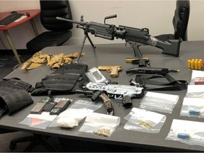 On Friday, Feb. 5, 2021, the BEATS team, the EPS tactical unit and the EPS canine unit executed a search warrant at a residence in the area of 112 Avenue and 93 Street. Five individuals, two males and three females, were arrested as a result. During the search of the residence, police located drugs, firearms, replica firearms, ammunition, body armour and cash.