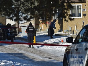 Police are investigating a suspicious death in a home on 139 Ave. near 36 St. in northeast Edmonton, February 17, 2021.