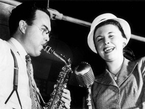Big Band leader Mart Kenney with singer Norma Locke at the Palais Royale in 1946