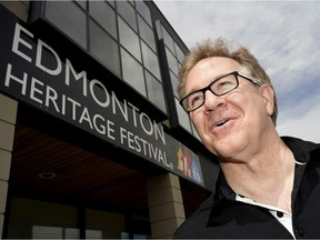 Jim Gibbon, executive director of the Edmonton Heritage Festival, outside the festival office on Thursday May 27, 2021. The Alberta government has announced that summer festivals will be allowed to be held in the province during the COVID-19 pandemic.