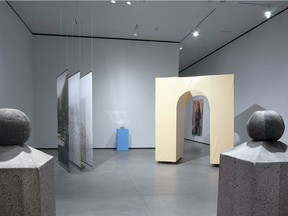 Instalation view of The Scene, which will finally be open to the public at AGA next weekend.