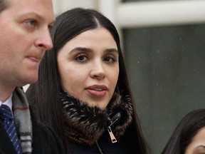 Emma Coronel Aispuro, wife of Joaquin 'El Chapo' Guzman, leaves from the U.S. Federal Courthouse in Brooklyn after the verdict for her husband was announced.