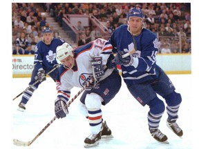 Before becoming a scout with the team, Tyler Wright, picked 12th overall by the Edmonton Oilers in 1991, enjoyed a long NHL career.