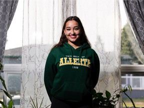 Anaiah Talma, seen at home in Edmonton, on Friday, July 16, 2021, is a University of Alberta student who's facing down the youth job market affected by the COVID-19 pandemic.