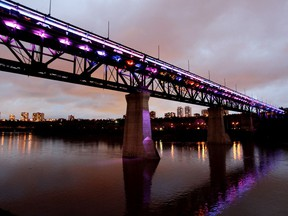 The High Level Bridge will be lit up in magenta and teal on Thursday, July 22, to commemorate World Fragile X Day.