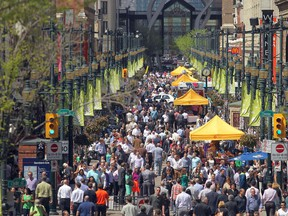 Lunch hour on a thriving Stephen Avenue in downtown Calgary on June 3, 2014.