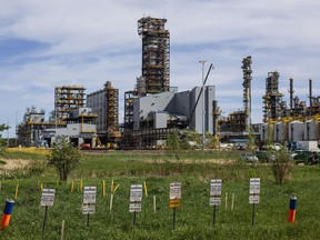 The Inter Pipeline Heartland Petrochemical Complex under construction in Strathcona County, Alberta.