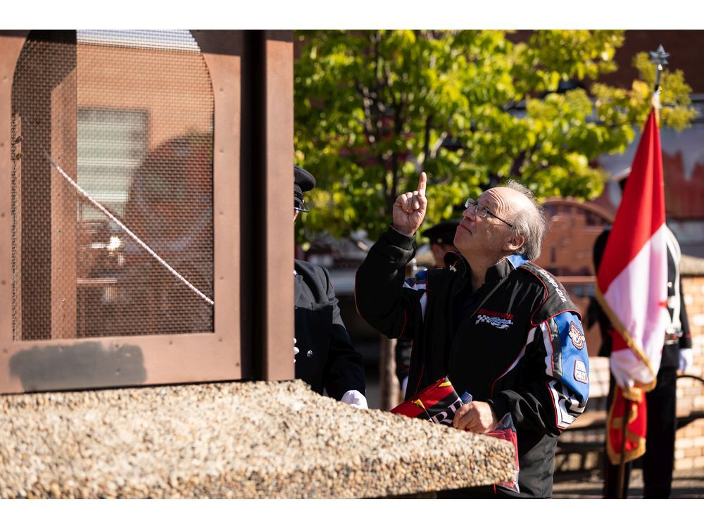 Edmontonians gather to honour fallen firefighters on the 20th anniversary of 9/11