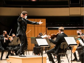 Chief Conductor Alexander Prior leads the Edmonton Symphony Orchestra in its first concert of the upcoming season.