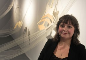 Becky Thera has been Harcourt House's artist in residence for the past year.