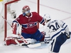 Toronto Maple Leafs' Auston Matthews scores on Montreal Canadiens goalie Carey Price during overtime NHL hockey action in Montreal, Saturday, October 14, 2017. Winnipeg Jets left-wing Nikolaj Ehlers,  Matthews and Washington Capitals centre Nicklas Backstrom have been named the NHL's three stars of the week. THE CANADIAN PRESS/Graham Hughes ORG XMIT: GMH500