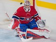 Montreal Canadiens goaltender Carey Price makes a save against the Buffalo Sabres on Nov. 25, 2017