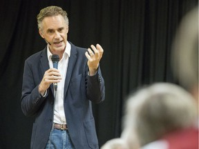 Jordan Peterson, a University of Toronto professor, speaks to a group of people at the Carleton Place Arena during a talk hosted by Randy Hiller, Progressive Conservative MPP for Lanark-Frontenac-Lennox and Addington Thursday, June 15, 2017.
