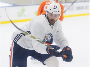 Cooper Marody, 61 who was acquired from Philadelphia on the ice at day two of the Oilers Development camp on June 26, 2018.