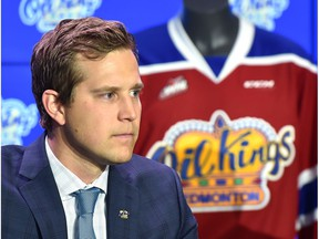 Kirt Hill has been named the new President of Hockey Operations and General Manager for the Edmonton Oil Kings during a news conference at Roger Place in Edmonton, June 27, 2018.