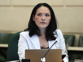 NDP MP Jenny Kwan prepares for an emergency meeting of the Citizenship and Immigration Committee on Parliament Hill in Ottawa on Monday, July 16, 2018.
