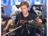 Edmonton Oilers Connor McDavid speaks with the media during physicals at the start of training camp at Rogers Place in Edmonton, September 12, 2019. Ed Kaiser/Postmedia