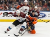Edmonton Oilers' Connor McDavid (97) battles Colorado Avalanche's Nathan MacKinnon (29) during the first period of a NHL hockey game at Rogers Place in Edmonton, on Thursday, Nov. 14, 2019. Photo by Ian Kucerak/Postmedia