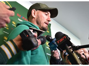 Eskimos head coach Jason Maas speaks to the media after their season ended in the Eastern Finals Sunday losing to Hamilton in Edmonton, November 18, 2019.