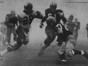 The 50th Grey Cup, also known as the Fog Bowl and played at Exhibition Stadium in Toronto in 1962, was one of a series of championships between the Winnipeg Blue Bombers and the Hamilton Tiger-Cats in the late 50s and early 60s. Postmedia file