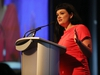 Little Warriors founder and chair Glori Meldrum speaks at the Little Warriors annual luncheon at the Shaw Conference Centre on Wednesday, April1 2015 in Edmonton, AB.  TREVOR ROBB/EDMONTON SUN/QMI AGENCY