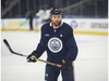 Oilers forward, Zack Kassian practiced on January 13, 2020,before his telephone hearing with the NHL about a fight he had in Calgary over the weekend with Matthew Tkachuk. Photo by Shaughn Butts / Postmedia