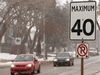 City Council has endorsed the reduction of residential speed limits to 40 km/hr across the city such as those seen in the King Edward Park neighbourhood in Edmonton, on Wednesday, March 11, 2020. Photo by Ian Kucerak/Postmedia