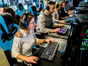 The Lambton Esports Open is taking place at Lambton College during the college's spring open house March 28. Venues including the college's esports arena, pictured, are being used. (Handout)    ORG XMIT: POS1811281534411396