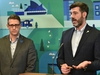 Mayor Don Iveson and Adam Laughlin, Interim City Manager, giving an update on the City's response to Alberta Health Services' recent direction on COVID-19 in Edmonton, March 12, 2020. Ed Kaiser/Postmedia