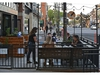 The patio at Malt and Mortar restaurant is open after the province relaxed patio rules during COVID-19, along Whyte Ave. in Edmonton, May 19, 2020. Ed Kaiser/Postmedia