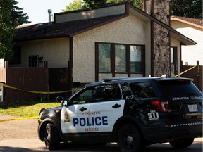 Edmonton Police Service officers are investigating a suspicious death at 1687 42 Street NW in Edmonton, on Monday, July 27, 2020.